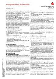 Bedingungen für das Online-Banking - Sparkasse Worms-Alzey-Ried