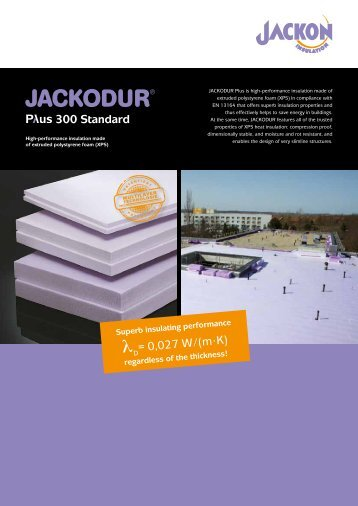 JACKODUR Plus 300 Standard - JACKON Insulation GmbH