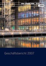 Geschäftsbericht 2007 - Kultur- und Kongresszentrum Luzern