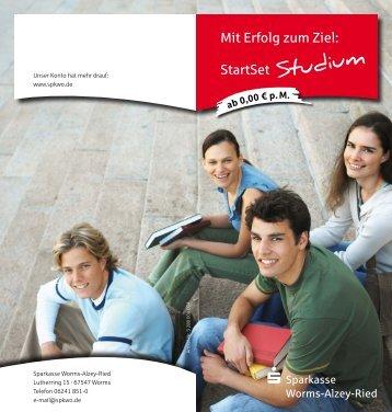 StartSet Studium - Sparkasse Worms-Alzey-Ried