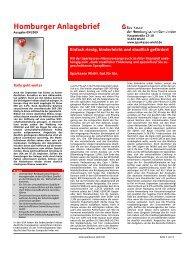 Homburger Anlagebrief - Sparkasse Wiehl
