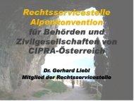 Rechtsservicestelle Alpenkonvention f