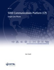 Mitel Single-Line Phone User Guide - Mitel Edocs
