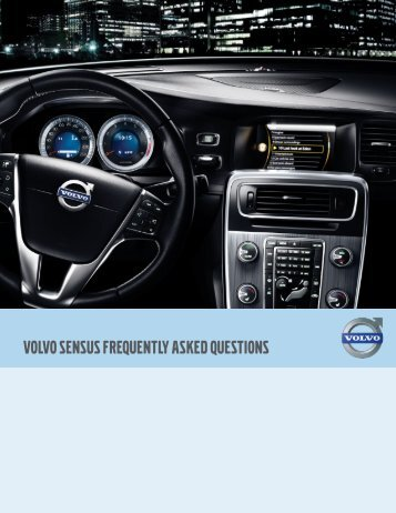 VOLVO SENSUS FREQUENTLY ASKED QUESTIONS