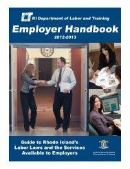 Employer Handbook - Rhode Island Department of Labor and ...
