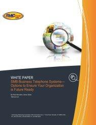 WHITE PAPER SMB Business Telephone Systems ... - Panasonic