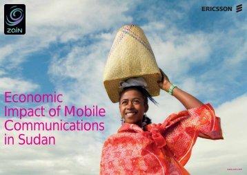 Economic Impact of Mobile Communications in Sudan - Ericsson