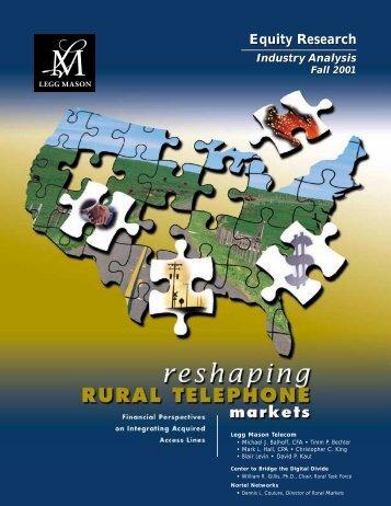 Reshaping Rural Telephone Markets - Balhoff & Williams, LLC