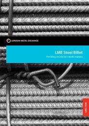 LME Steel Billet brochure - London Metal Exchange
