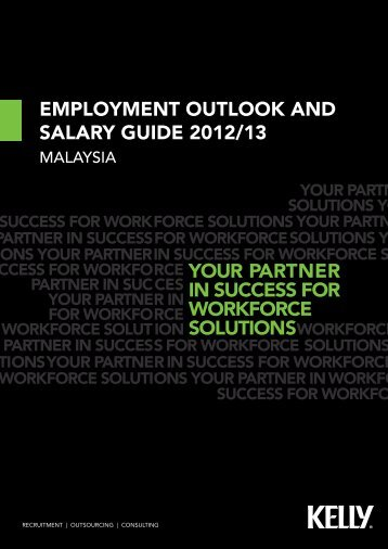 EMPLOYMENT OUTLOOK AND SALARY GUIDE 2012/13