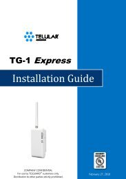 Telguard model TG-1 Express provides the ideal solution