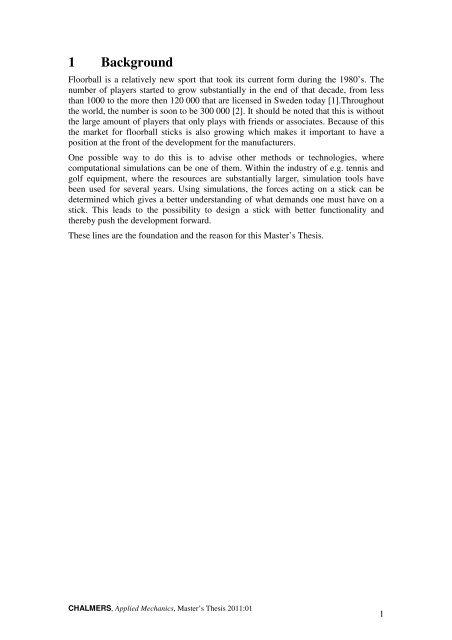 Analysis of floorball sticks using high speed camera and Abaqus