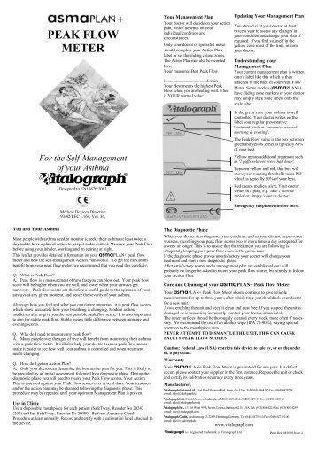 Vitalograph asma-1 range