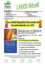 Getreideernte 2010 Die LANDI BippGäuThal senkt die Annahmetarife