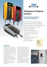 Weatherproof Telephone FernTel 3 - Phone Master