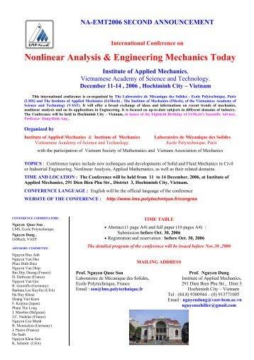 Nonlinear Analysis & Engineering Mechanics Today - LMS