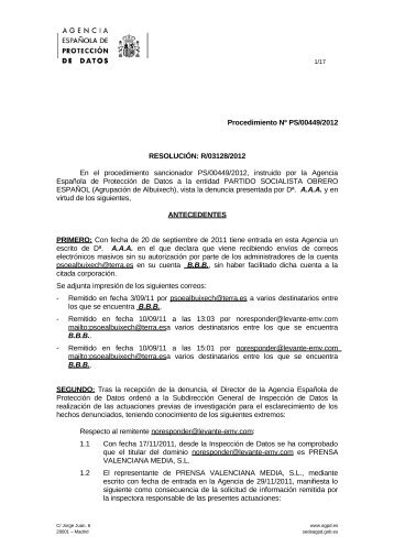 PS-00449-2012_Resolucion-de-fecha-07-03-2013_Art-ii-culo-6.1-LOPD