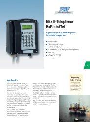 EEx II-Telephone ExResistTel Explosion-proof ... - Phone Master