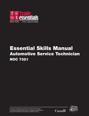 Essential Skills Manual - Automotive Service Technician