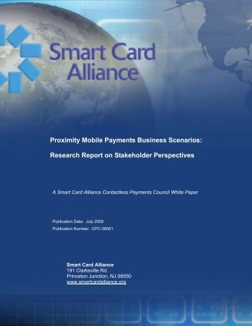 White Paper: Mobile Payment Emerging Business Model Scenarios