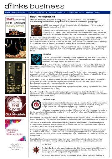 The Drinks Business - BEER: Rule Beertannia - Steel City Brewing