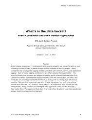 JWP White Paper - SANS Technology Institute
