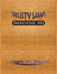 visit us online - Rusty Saw Smokehouse BBQ