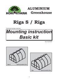 RIGA Assembly Instructions 2005 - Exaco