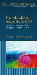 Feier Abend Mahl Agapefeier 2012/13