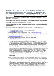 Summer And Fall 2012 Registration Letter - Brooklyn College - CUNY