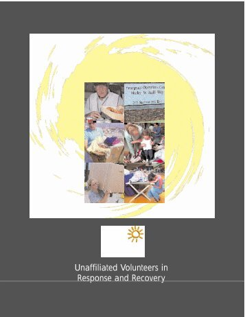 Unaffiliated Volunteers in Response and Recovery - Tallahassee ...