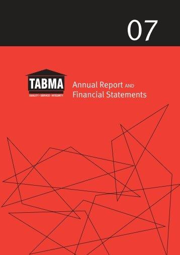 Annual Report 2007 - TABMA