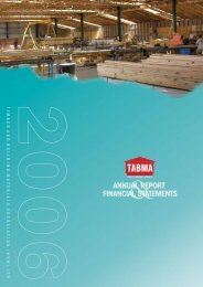 FINANCIAL STATEMENTS ANNUAL REPORT - TABMA