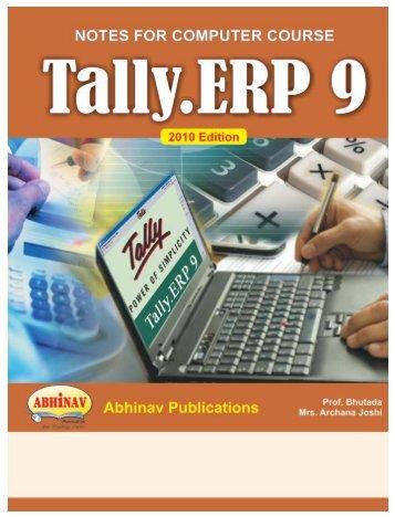 TALLYERP 9 Eng E-mail.qxd - Abhinav Publications