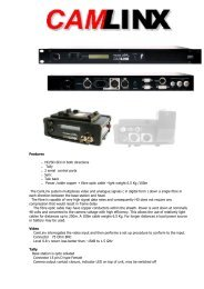Features . HD/SD-SDI in both directions . Tally . 2 serial control ports ...