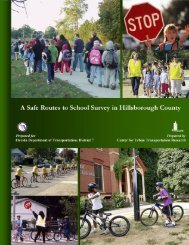 A Safe Routes to School Survey in Hillsborough County