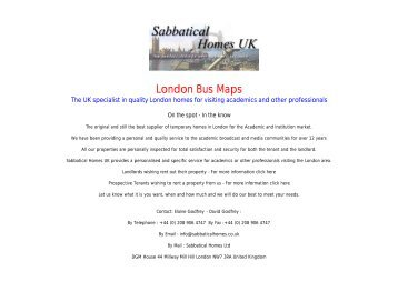 Night buses in south east London Sabbatical Homes UK