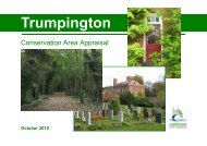 Trumpington Conservation Area Appraisal - Cambridge City Council