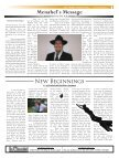 Menahel's Message - Mesivta Ateres Yaakov - Page 3