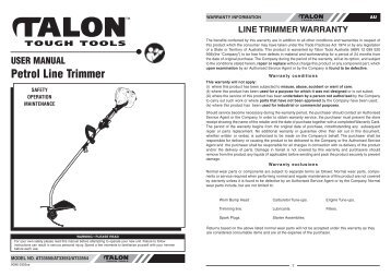 Talon Line Trimmer Manual