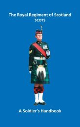 The Royal Regiment of Scotland A Soldier's ... - Electric Scotland