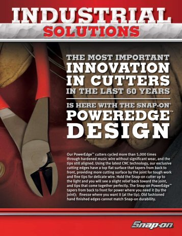Industrial Solutions March 2009 Flyer - Snap-on