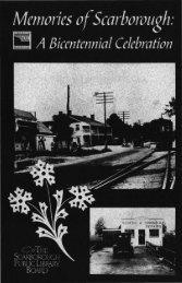 Memories of Scarborough - Toronto Public Library