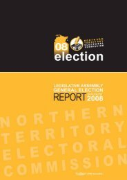General Election Report 2008 - NT Electoral Commission