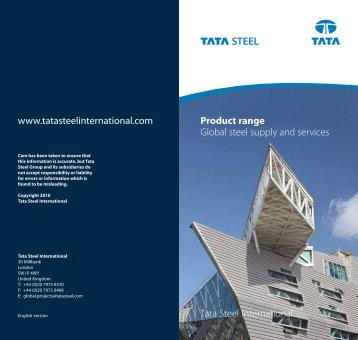 Product range - Tata Steel