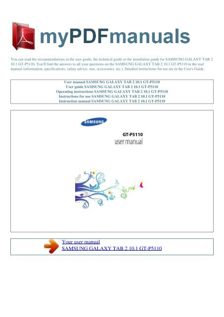 Samsung gt-p7500 galaxy tab 10. 1 3g service manual service manual.