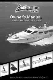 Owner's Manual Owner's Manual - Bennett Marine