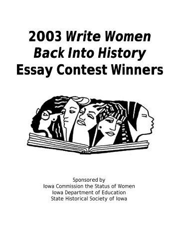 2003 Write Women Back Into History Essay Contest Winners - Iowa ...