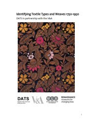 Identifying Textile Types and Weaves 1750-1950 - Dress and Textile ...