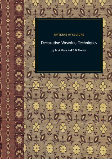 Decorative Weaving Techniques - International Textiles Archive ...
